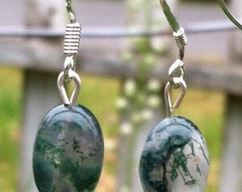 Moss Agate Earrings   #6