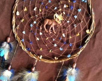 Spirit Animal Dream Catcher- Large Beaded Dream Catcher- Pick Your Spirit  Animal