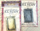 Milan Resin bezel tray blank Large Rectangle from Ice Resin Susan Lenart Kazmer