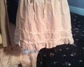 Boho Railway Ruffled Skirt