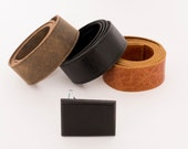 Leather belt and wooden buckle / leather man belt / Ebony wood belt buckle / belt buckle / gift idea for him / Christmas gift / wooden belt