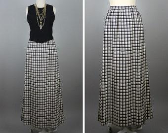 1970s Pendleton Plaid Maxi Skirt --> Plaid Skirt --> Vintage Maxi --> Long Skirt --> Long Plaid Skirt --> Wool Skirt --> Size 10 Skirt