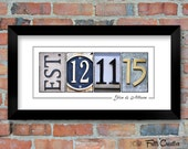 Personalized Wedding Date Prints, FRAMED alphabet photography, photo name art, wedding signage, anniversary date