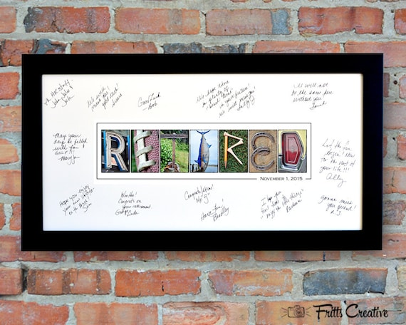 Retirement Party Signing Print With Free Personalized Text
