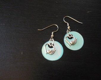 hearts w/ wings earrings