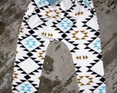 Toddler infant baby  Harem Pants, organic cotton, Geometric design, baby leggings geometric fox boys girls unisex photography prop
