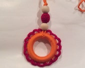Reserved for Irina - do not buy, if you are not Irina - Teething Ring, Wooden Teething Toy
