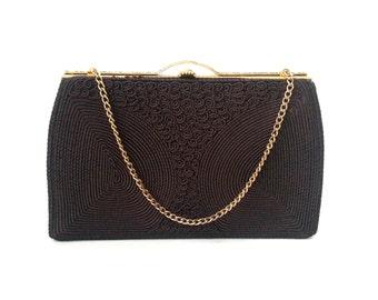 Vintage Purse, 1950s Brown Purse, Vintage Brown Purse, Retro 50s Purse, Corded Purse, Cordé Bag, Vintage Handbag, 50s Handbag, Brown Clutch