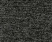"""Timeless Classic Chenille Upholstery Fabric - Durable - Washable - Soft hand - 56"""" wide - Polyester/Viscose - Color:  Charcoal - Per Yard"""