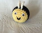 Crocheted Little Bee - Amigurumi - handmade bee - made to order
