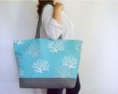 EXtra Large Beach Bag, Canvas Tote Bag, Large Tote Bag, Pool Bag, Travel Bag, Weekender Tote, Gift for Her