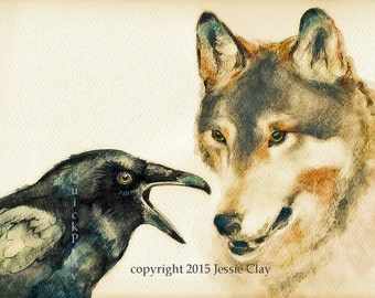 Raven Speaks to Wolf