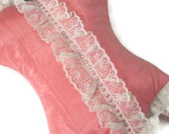 Hot Pink Corset Pillow Pantyhose Holder Pajama Bag