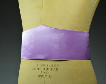Riddler's Costume Belt and Mask accessories in lavender satin or leather