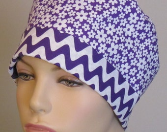 Scrub Hat Purple Ric Rac