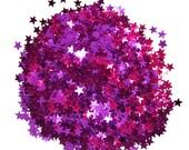 Purple Glitter Stars, Medium Stars, Purple Confetti, Party Glitter, Glitter Crafts