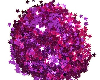 Purple Glitter Medium Stars  - 1 Fl. Ounce