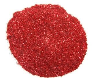 Ultrafine Red SOLVENT RESISTANT Glitter 0.008 Hex - 1 Fl. Ounce for Glitter Nail Art , Glitter Nail Polish & Glitter Crafts