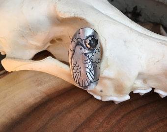 Raven Saddle Ring