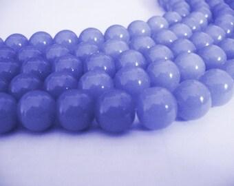 Glass  Beads Cornflower Blue Round 10MM