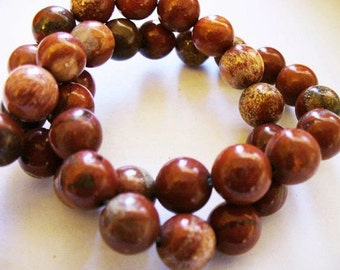 Red Jasper Beads Gemstone Round 8MM