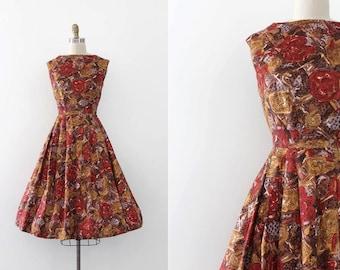 vintage 1960s dress // 60s floral day dress