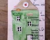 "SALE - Teeny Tiny Button House - TTBH001 ""Observe"""
