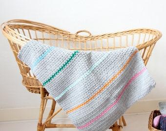"Crochet baby blanket ""Windmill"" --> english PDF PATTERN"