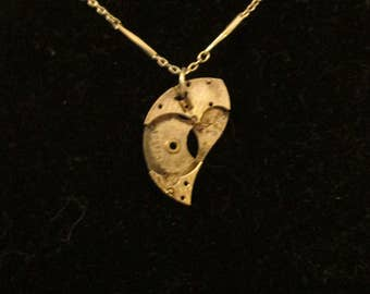 Half Moon Steampunk necklace