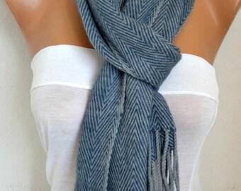Unisex Zigzag Scarf Wool Scarf Cowl Scarf Shawl Neck Warmer Gift For Her For Him Men Scarf Man Women Fashion Accessories