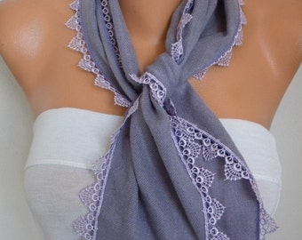 Pale Lilac Pashmina Scarf Soft Shawl Teacher Gift Cowl Cotton Scarf,Bridesmaid Gift Ideas For Her Women Fashion Accessories Scarves