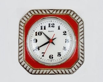 Vintage German Ceramic Wall Clock