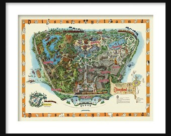 Disneyland Map - Panoramic Birds Eye View Map of Disneyland