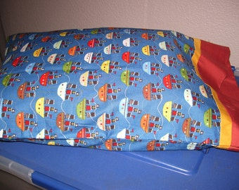 Hand Made Travel Pillowcase with New Pillow Form Included!!!!!