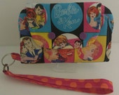 Retro Barbie Wristlet cellphone wristlet