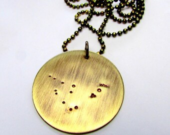 Capricorn Necklace - Zodiac Constellation Necklace - CAPRICORN by E. Ria Designs