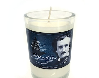 LIMITED EDITION Edgar Allan Poe, tobacco and cognac scented soy candle