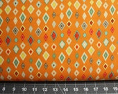 Boy Crazy Pattern C3332 Color: Orange by Dani Mogstad for Riley Blake/Cotton Quilt Craft Apparel/Fabric by the Yard/Half Yard/FQ
