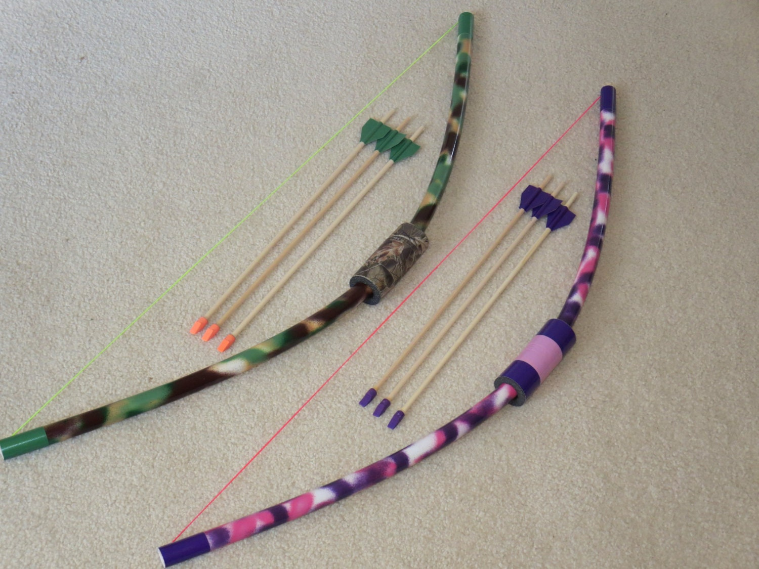 Kids pvc bow rubber arrows outdoor activity sets by for Kids pvc bow