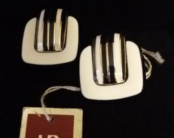 Clip earrings enamel, Helena Rubinstein Paris