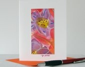 Floral Abstract Watercolor Art Notecard // Original Art
