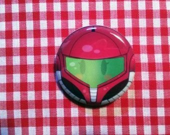 Samus Aran (Metroid) Button