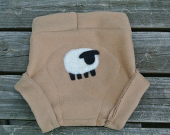 sheepish upcycled wool diaper size S.