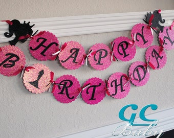 Custom Princess Birthday Banner - I Am 1 or Happy Birthday in ANY color combination