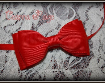 Red Baby Headband - Red Baby Bow - Red baby hair bow - Red baby hairbow - Red hairbow - Baby Headband - Valentines day hair bow