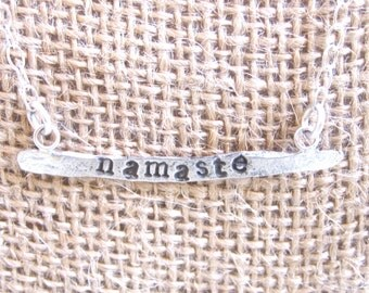 Recycled Sterling Stamped Necklace