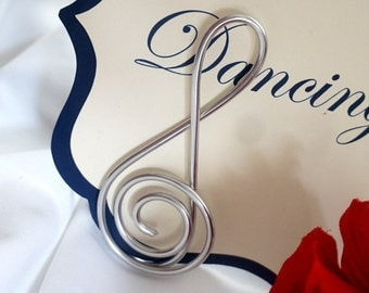 Treble Clef Table Number Holders, Music Theme Events, 5pcs
