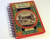 ROME ITALY TRAVEL Handmade Journal Vintage Upcycled Book Travel Italy Journal