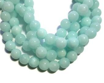 Ocean Blue Jade - 10mm Round - 42 beads - Full Strand