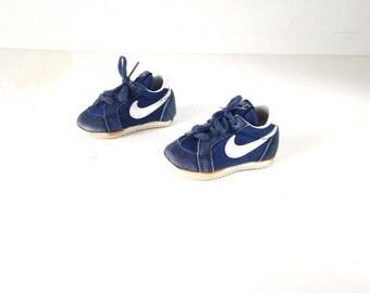 vintage 70s 80s KIDS blue NIKE sports TODDLER baby shoes kids vintage Nike shoes runners